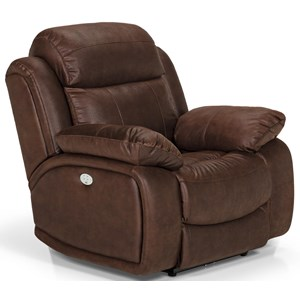 Power Reclining Chair with Power Head/Lumbar and USB Port in Diversey Slate
