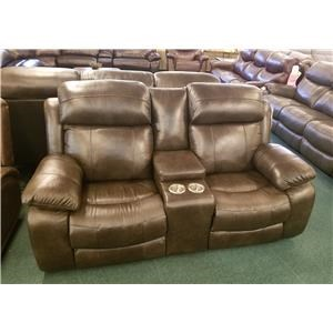 Power Reclining Console Loveseat with Power Head/Lumbar and USB Ports
