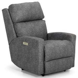 Contemporary Power Recliner with Power Headrest and USB Charging Port