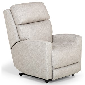 Contemporary Power Lift Recliner with Power Headrest and Lumbar