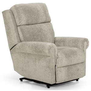 Casual Power Lift Recliner with Power Adjustable Headrest and Lumbar