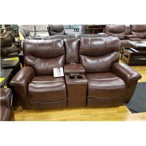 Power Reclining Console Loveseat with Power Headrest and Lumbar Support