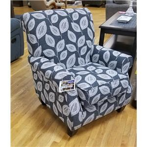 Transitional Accent Chair with Rolled Back and Arms