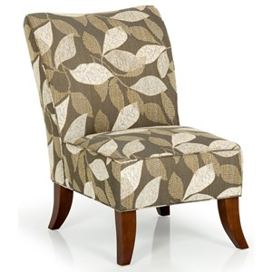 Contemporary Upholstered Accent Chair with Exposed Wood Legs