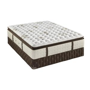 Queen Firm Euro Pillow Top Mattress and Box Spring