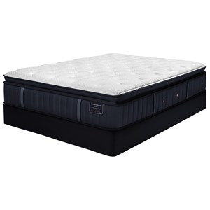 "King 15"" Luxury Firm Euro Pillow Top Mattress and 9"" SX4 Foundation"