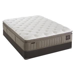 Twin Extra Long Plush Euro Pillowtop Mattress and High Profile Foundation