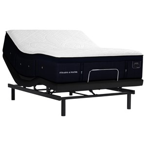 "King 15"" Luxury Cushion Firm Premium Hybrid Mattress and Ease 3.0 Adjustable Base"