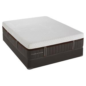 California King Cushion Firm Hybrid Mattress and Low Profile Foundation