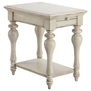 Delphi Chairside Table with Pull-Out Tray