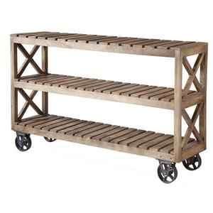 Stein World Accent Tables Rolling 3-Shelf Cart