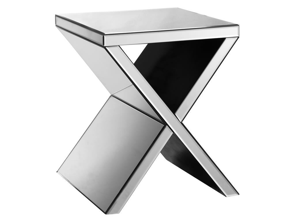 Accent Tables Mirrored Corner Table by Stein World at Dream Home Interiors