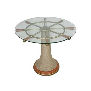 Stein World Accent Tables Captain's Wheel Table