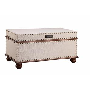 Linen Trunk with Nailhead Detail