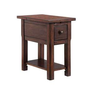 1-Drawer Chairside table with rustic lodge finish