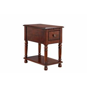 1-Drawer Chairside table with a cherry finish