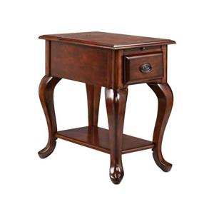 1-Drawer Chairside table in rich cordovan finish'