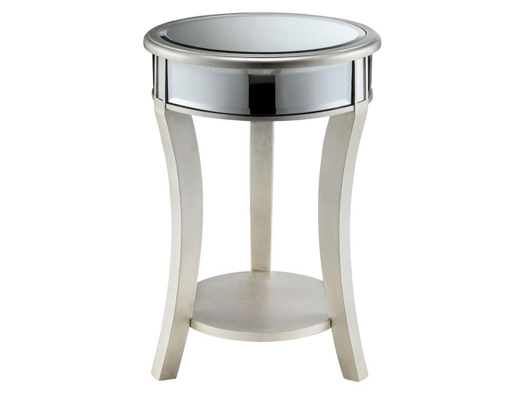 Accent Tables Mirrored Round Table by Stein World at Dream Home Interiors