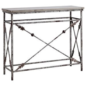 Arrowdale Metal and Wood Console Table