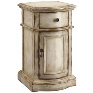 Petite End Table Cabinet with Door and Drawer