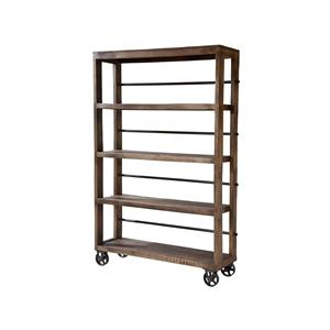 Hayden 4-Shelf Bookcase with Casters