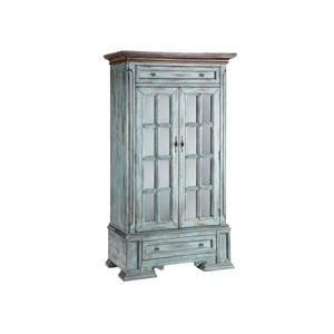 Tall Cabinet with 2 Doors and 2 Drawers and 3 Shelves