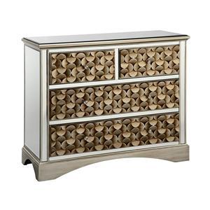 Stein World Cabinets Savona 3-Drawer Mirrored Chest