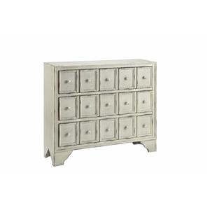 3-Drawer Cabinet in Distressed White
