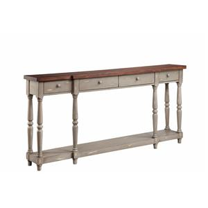 4 Drawer Console French Gray