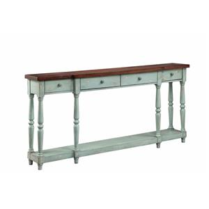 4 Drawer Console Caribbean Mist