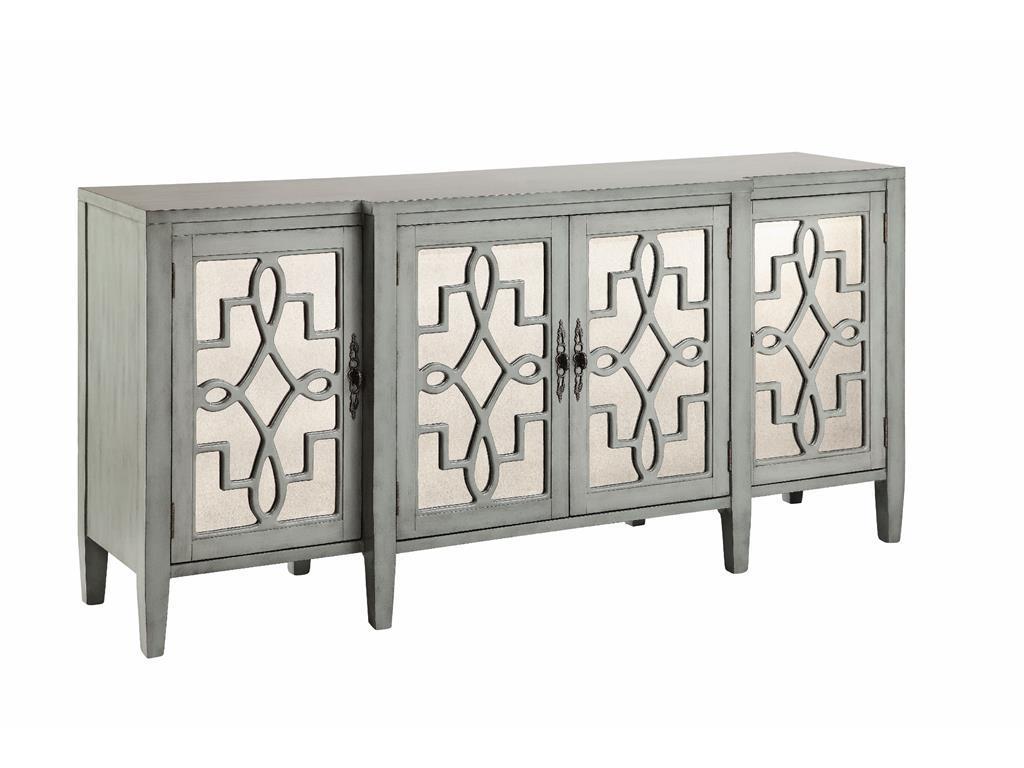 Cabinets Mirrored Credenza by Stein World at Westrich Furniture & Appliances