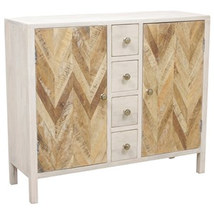 Derron Two Door Cabinet with Four Small Drawers