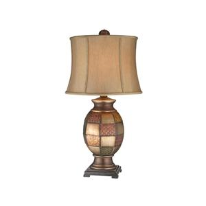 Stein World Lamps Antique Metallic Patchwork Table Lamp