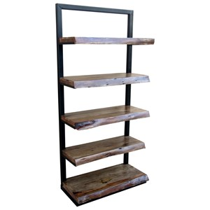 Ladder Bookcase with Five Shelves