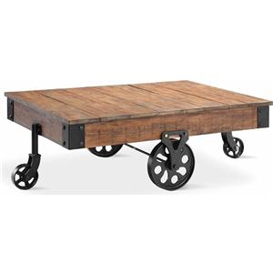 Cart Coffee Table w/ Wheels