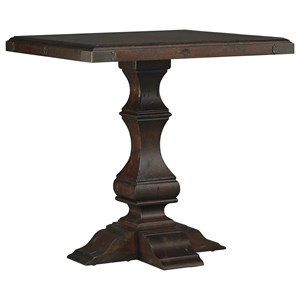 End Table with Carved Baluster Base