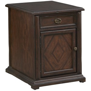 Accent Chairside Chest with Door