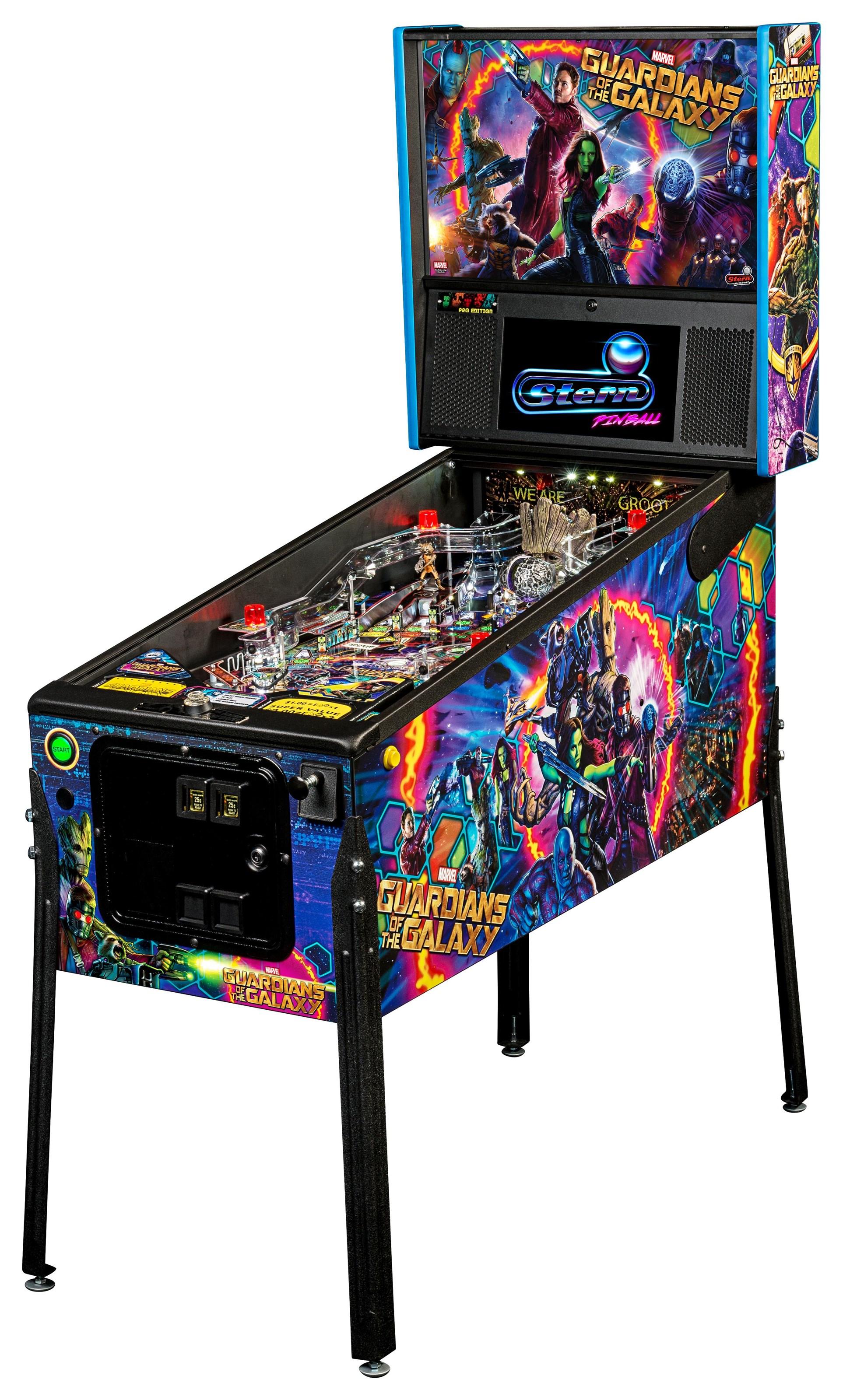 Games Guardians Of The Galaxy Pitball Machine by Stern Pinball at Johnny Janosik