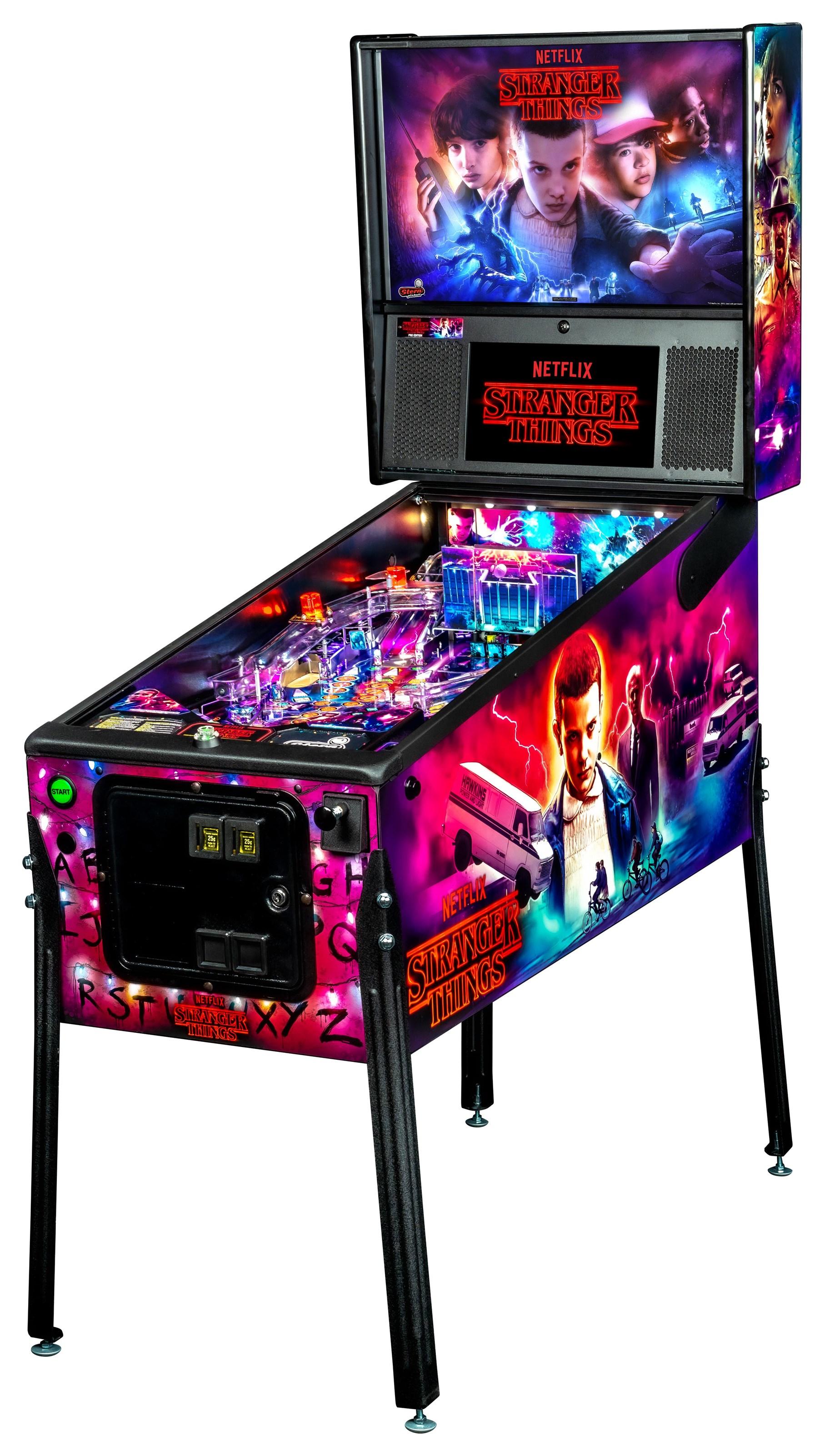 Games Stranger Things Pinball Machine by Stern Pinball at Johnny Janosik