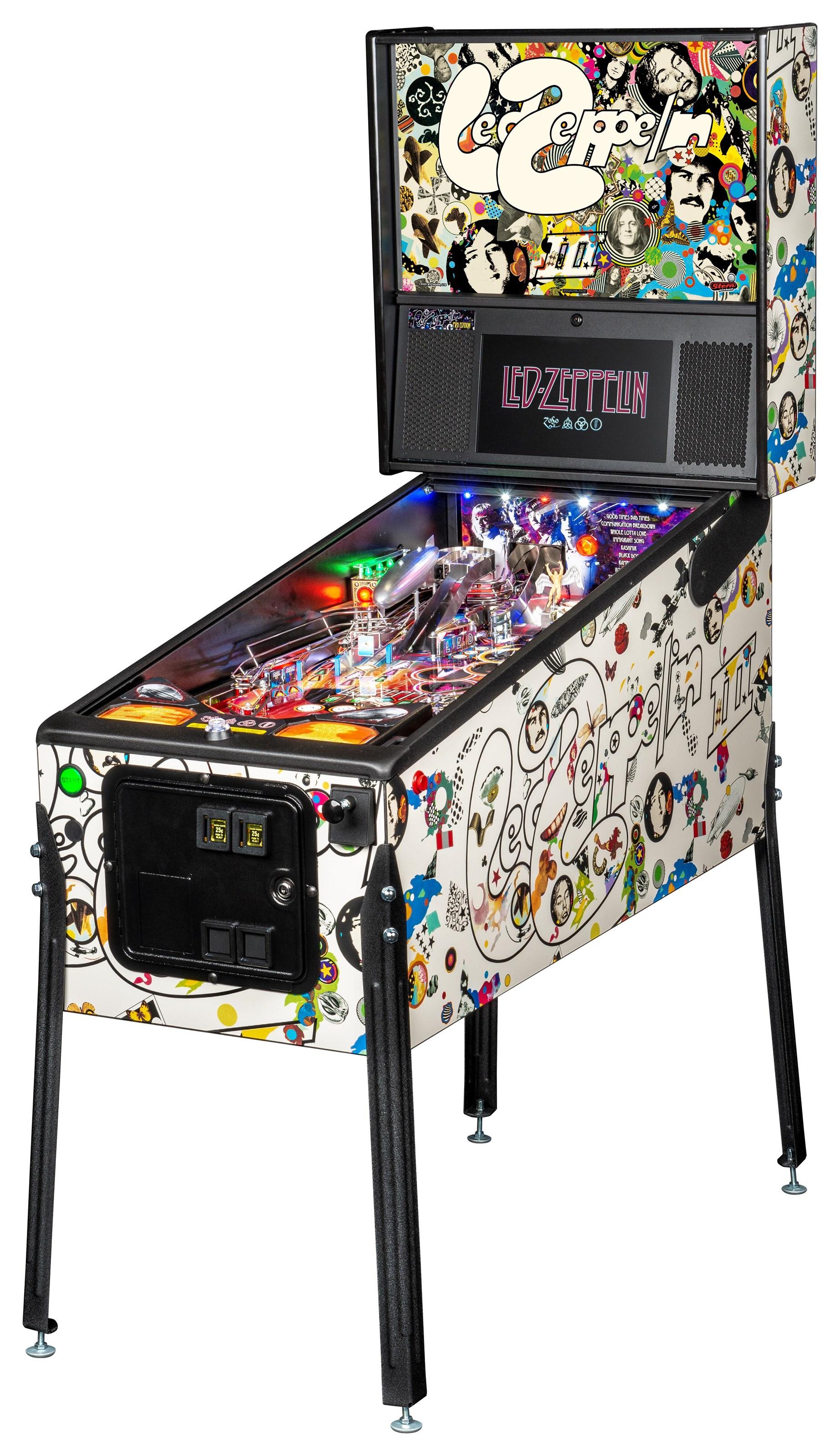 Games Led Zepplin Pinball Machine by Stern Pinball at Johnny Janosik