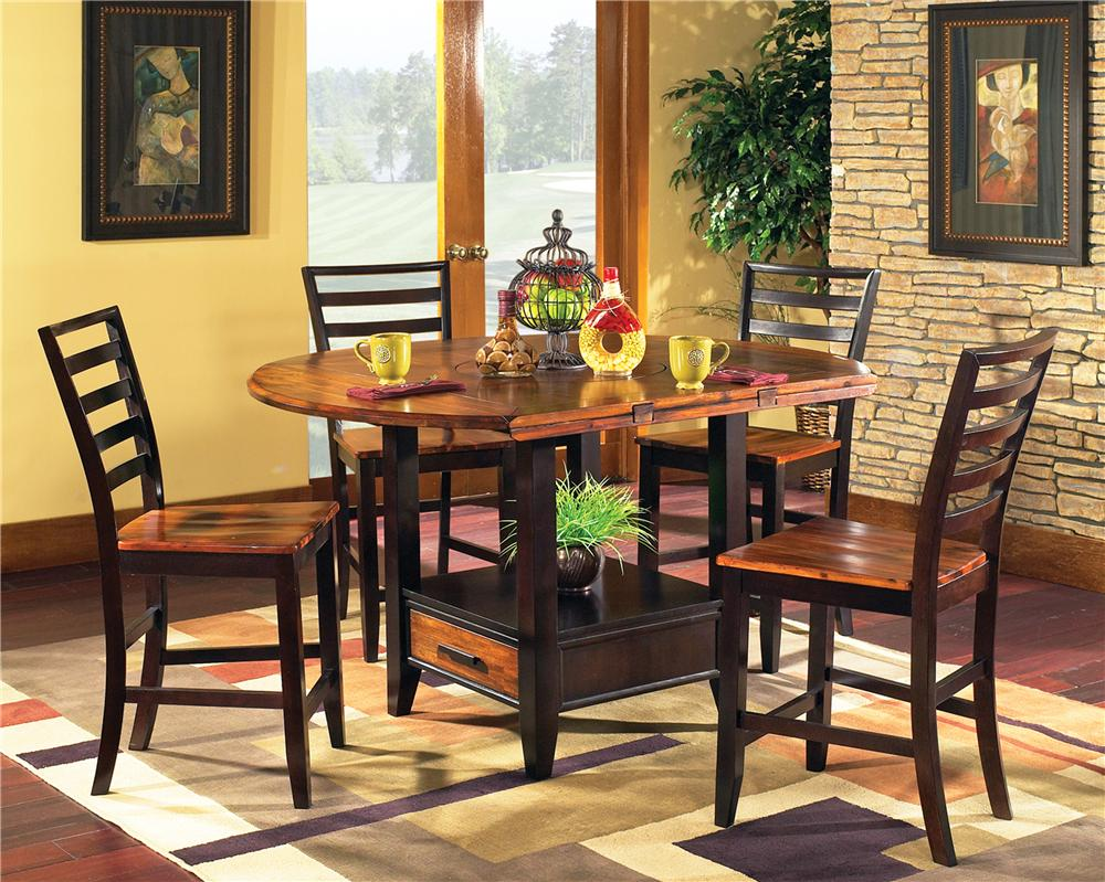 Abaco 5-Piece Square/Round Gathering Table Set by Steve Silver at Wayside Furniture