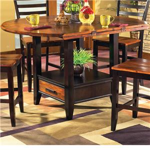 Abaco Solid Acacia Top 42 Quot Round Drop Leaf Leg Table