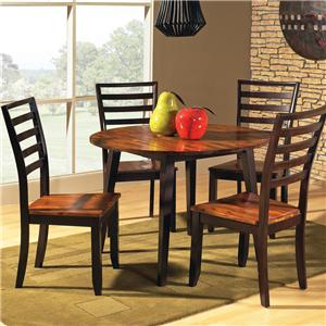 5-Piece Drop Leaf Leg Table with Ladder Back Chairs