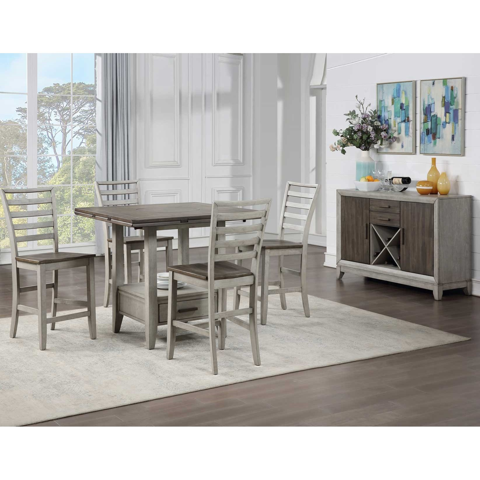 Abacus Dining Room Group by Steve Silver at A1 Furniture & Mattress