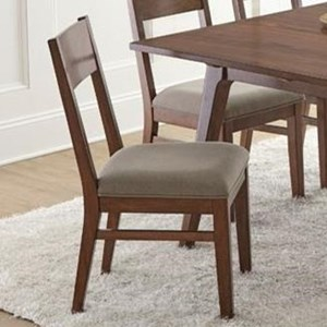 Dining Side Chair with Cushioned and Upholstered Seat