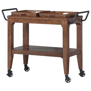 Serving Cart with Two Removable Trays