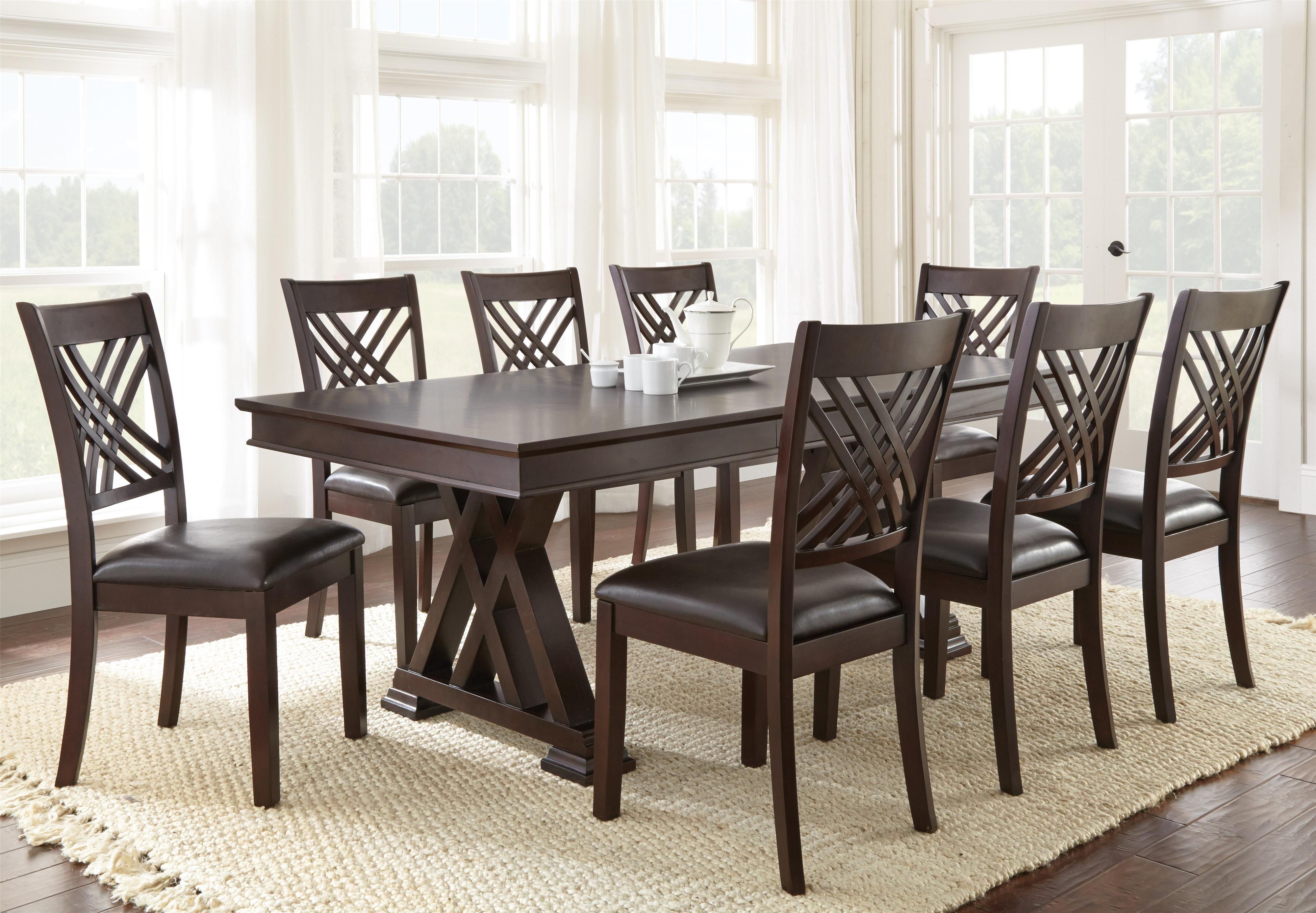 Adrian 9 Piece Table & Chair Set by Vendor 3985 at Becker Furniture