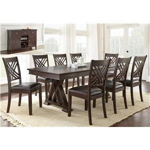 8 Piece Table and Chair Set with Server