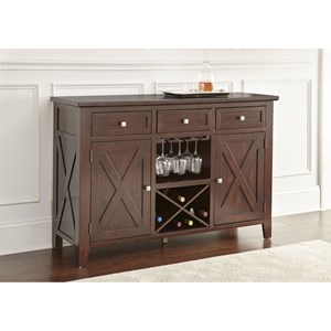 Server with Wine Bottle Storage