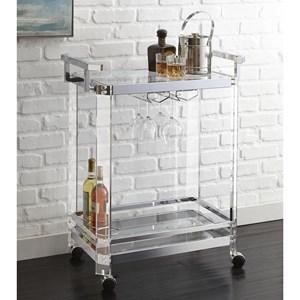 Acrylic and Metal Server Cart